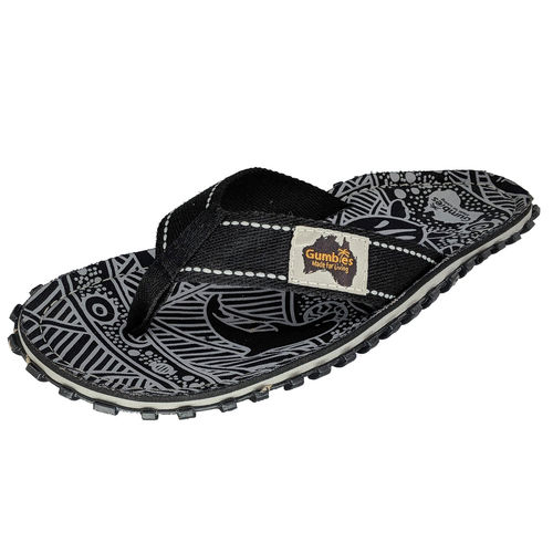 Gumbies Islander Flip Flop Damen, black signature